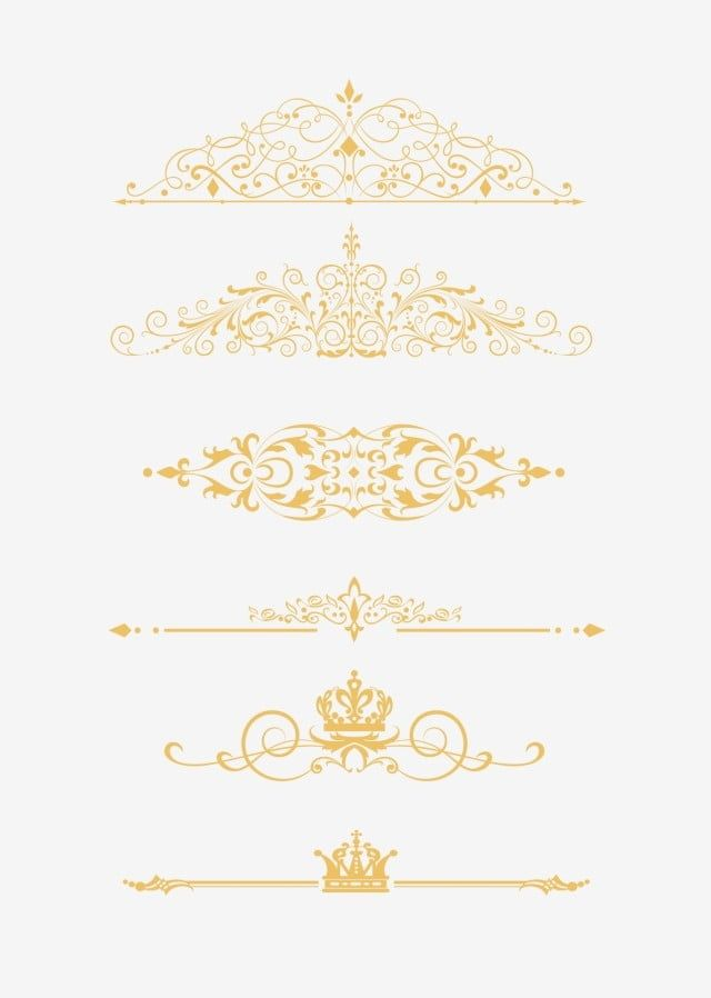European Gold Border With Commercial Elements Frame Gold Simple