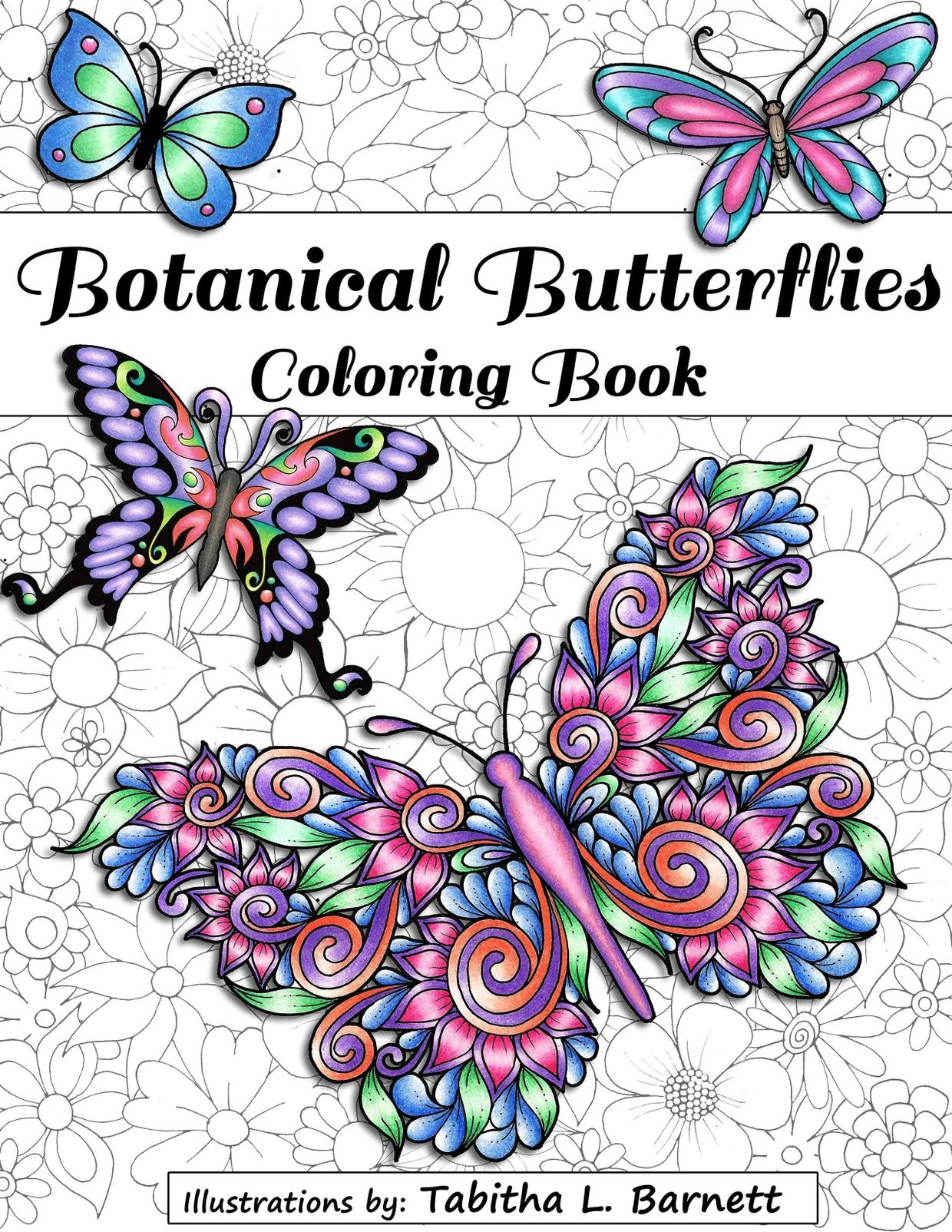 Botanical Butterflies Coloring Book Pdf 58 Pages To Print And Color Butterfly Coloring Page Flower Coloring Pages Coloring Books
