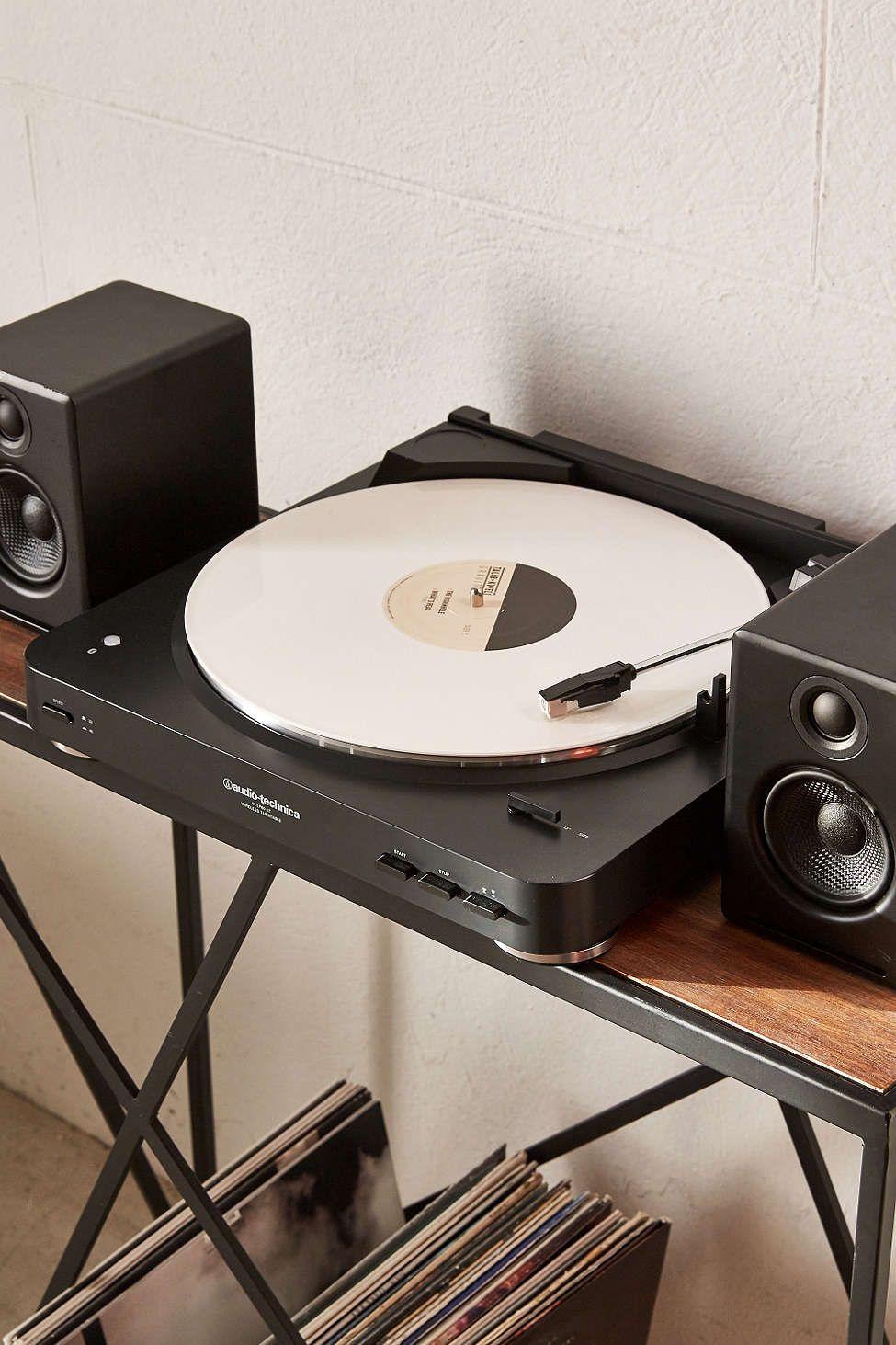 Audio Technica Wireless At Lp60 Vinyl Record Player Black Vitrola Móveis Sustentáveis Vinil