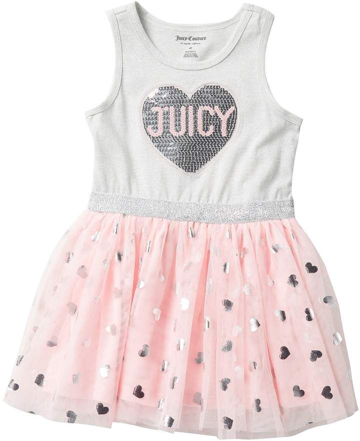 Juicy Couture Sequin Applique Dress Toddler Girls Hautelook Toddler Girl Dresses Girl Outfits Toddler Dress