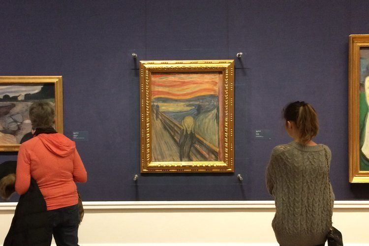 The Scream by Edvard Munch in The National Gallery, Oslo in Norway |  Norway, Oslo, Artist