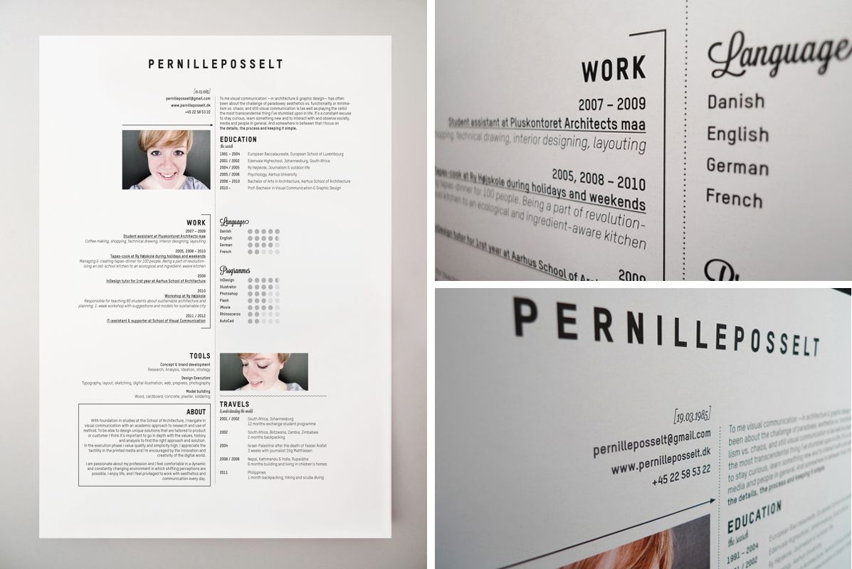 Kreativer Lebenslauf Pernille Posselt Kreativer Lebenslauf: Tipps ...