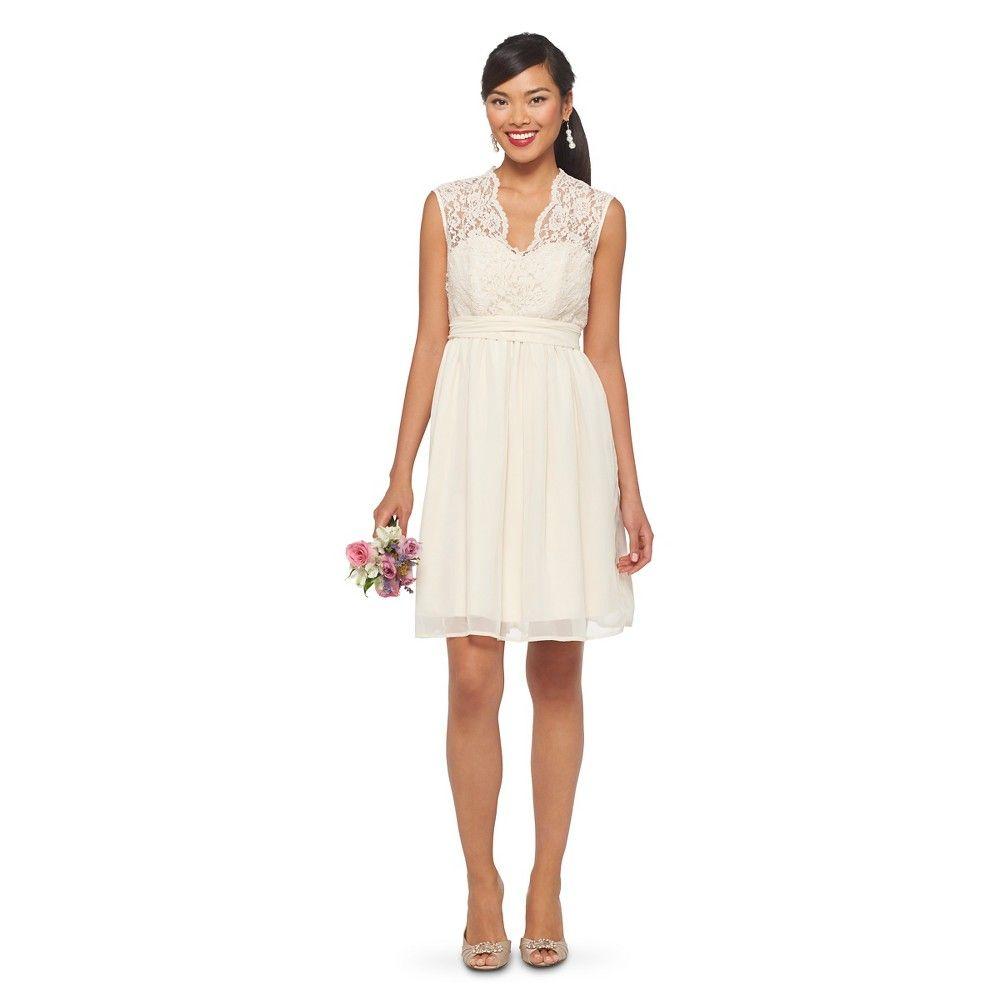 Womenus scalloped lace vneck with back cutout bridesmaid dress