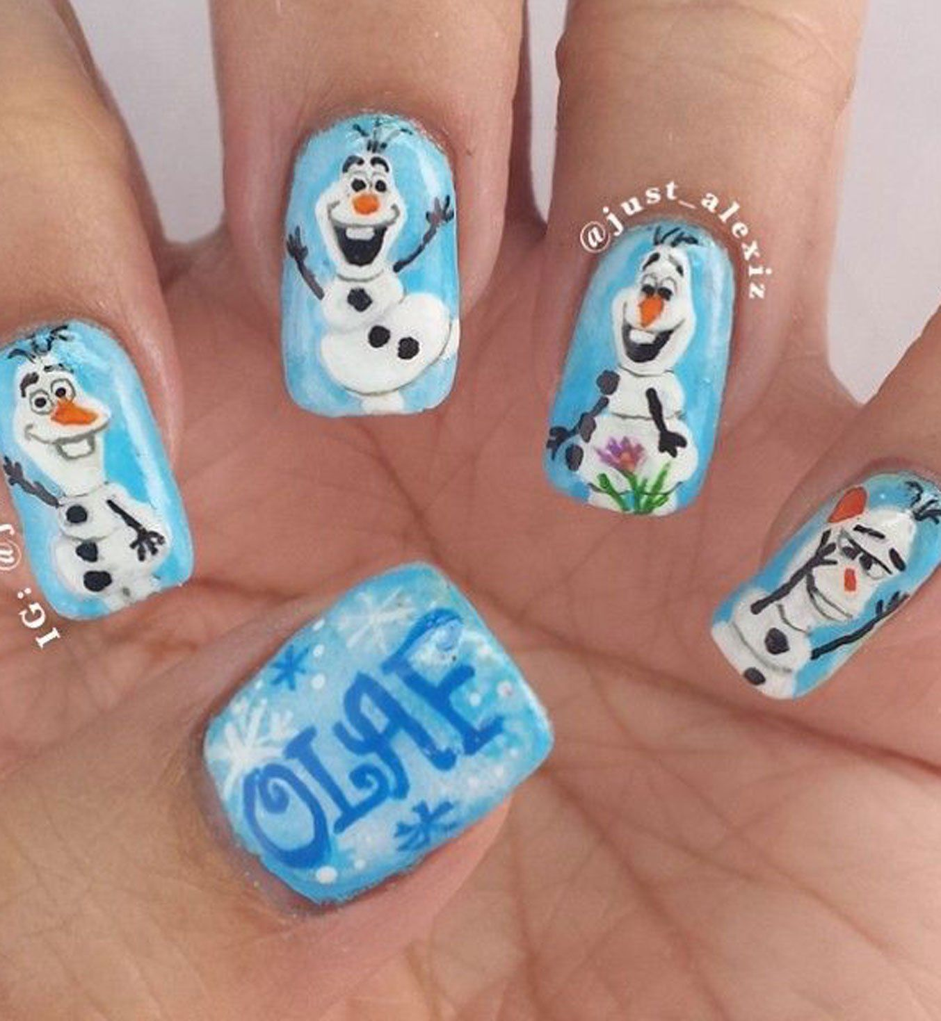 Nail Art La Reine des Neiges | My Style | Pinterest | Fingernägel