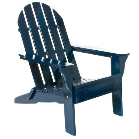Showcasing A Classic Adirondack Silhouette In A Navy Finish, This  Indoor/outdoor Chairu0027s Folding