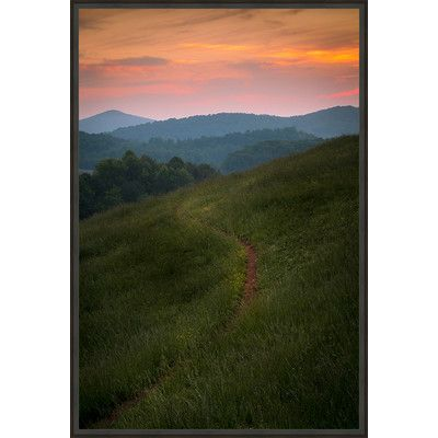 "Ashton Wall Décor LLC Country Colors 'Out to Pasture' Framed Photographic Print on Canvas Size: 45.75"" H x 30.75"" W x 2"" D"