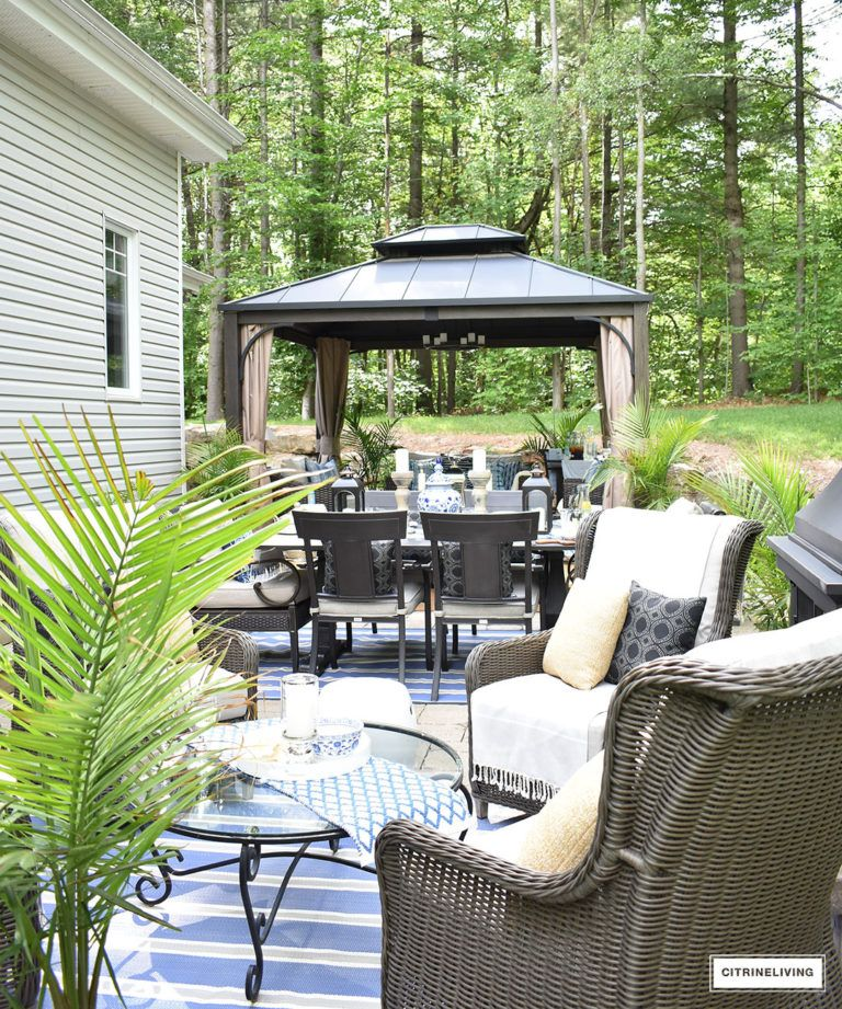 OUR NEW BACKYARD PATIO REVEAL - PERFECT FOR ENTERTAINING ...