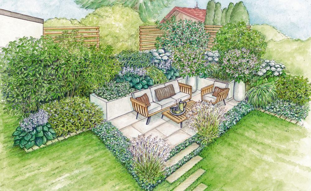 Ein neuer sitzplatz in der gartenecke gartenecke helle - Gartenecke gestalten ...