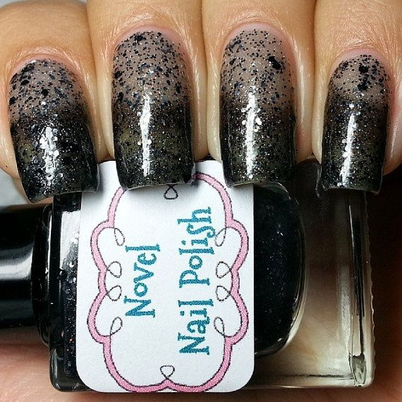 Full Size 13.2 ml Grey to Black Thermal Nail by NovelNailPolish, $10.00