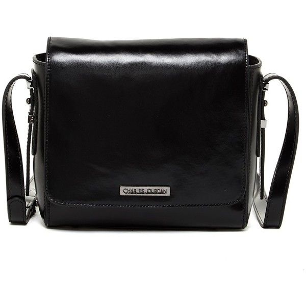 Charles Jourdan Mali Leather Crossbody ($140) ❤ liked on Polyvore featuring bags, handbags, shoulder bags, black, leather shoulder handbags, crossbody handbags, crossbody, accessories handbags and shoulder strap handbags