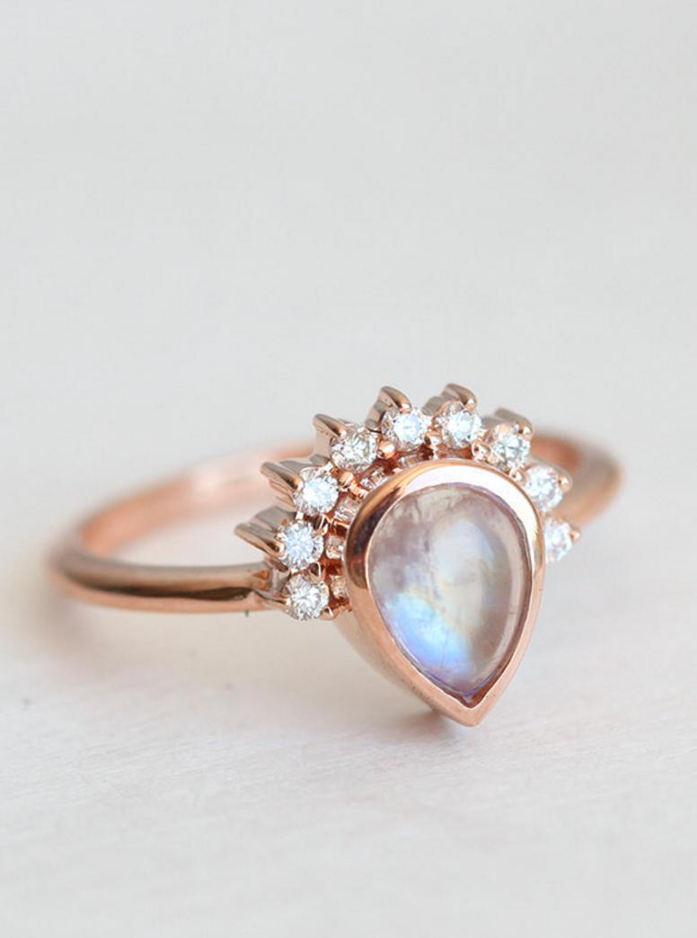 Moonstone u diamond ring minimalvs on etsy etsy wishlist