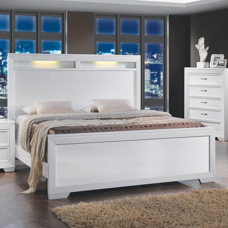 Home Source Bedroom Furniture Queen Bed/ Dresser/Mirror/Nightstand ...