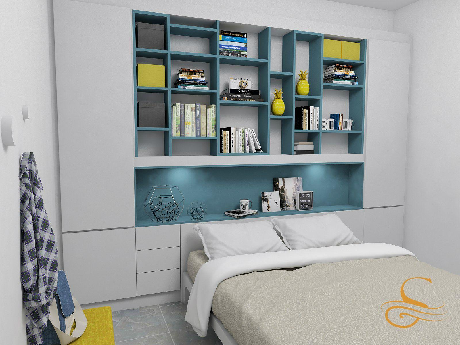 c5af56cd Dormitorio con cabecero de mueble empotrado | Proyectos | Muebles  empotrados, Muebles y Decoración de unas