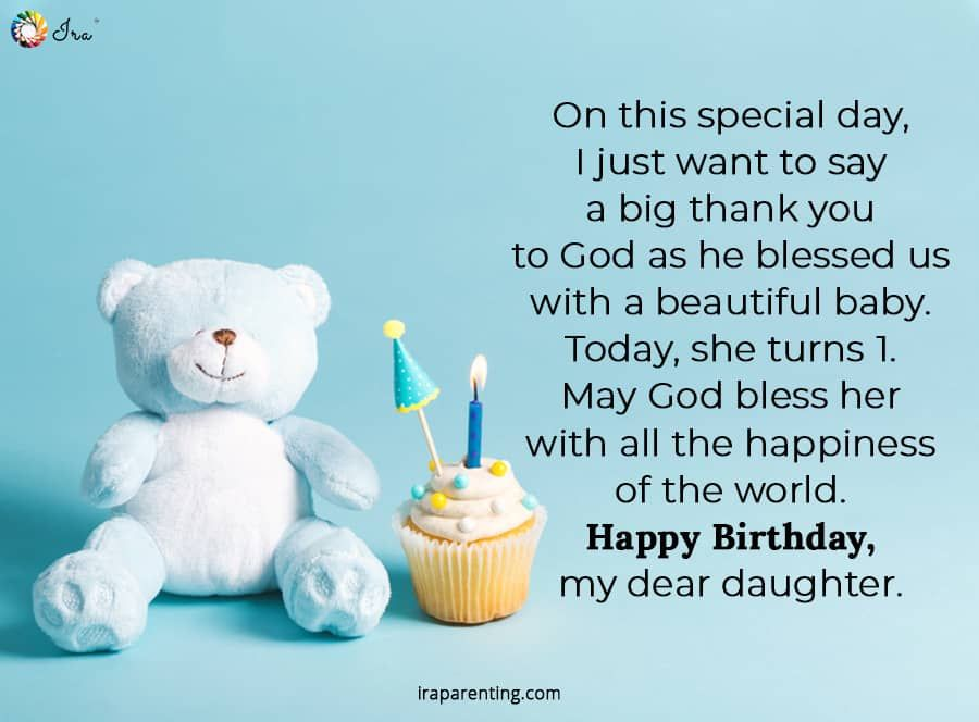1st Birthday Wishes For Baby Girl Ira Parenting In 2020 1st Birthday Wishes Happy Birthday Daughter Friend Birthday Quotes