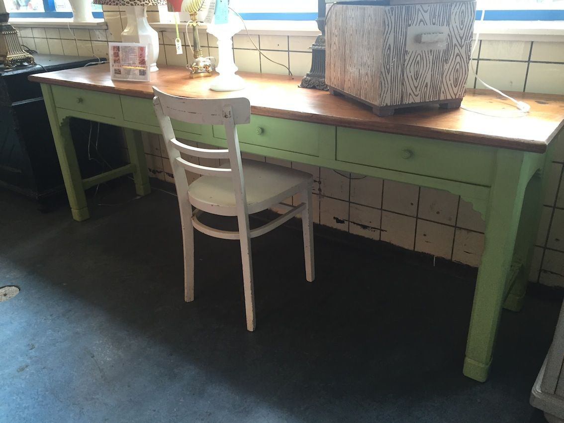 vintage industrial french 1940s wooden kitchen table  1277 long vintage industrial french 1940s wooden kitchen table  1277 long      rh   pinterest com
