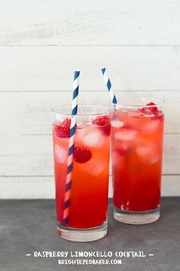 Raspberry Limoncello Cocktail #limoncellococktails Raspberry Limoncello Cocktail #limoncellococktails