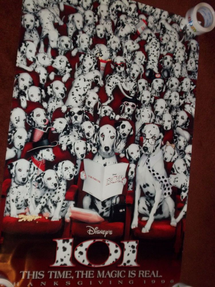 101 Dalmations Original 1996 Teaser Movie Poster Double Sided