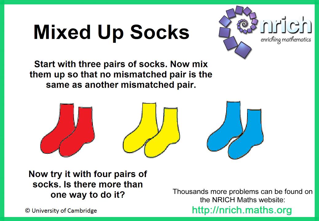 Mixed up Socks Poster : nrich.maths.org   Teaching Loves ~ Math ...