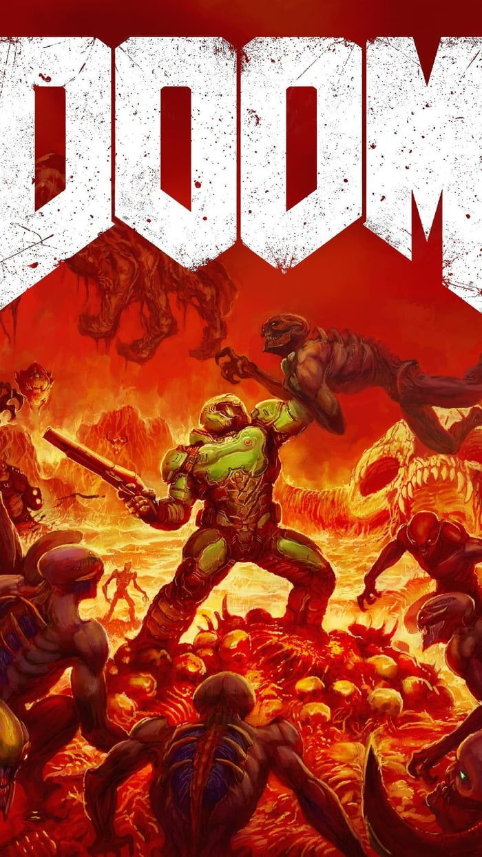 Doom Another One For My Wallpaper Fans Doom Videogame Gaming Wallpapers Doom Demons