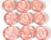 Cute pink heart magnets