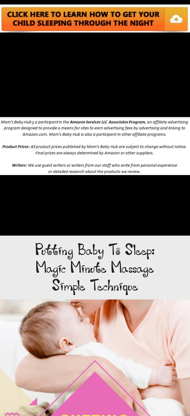Putting Baby To Sleep: Magic Minute Massage Simple Technique - health and diet f...