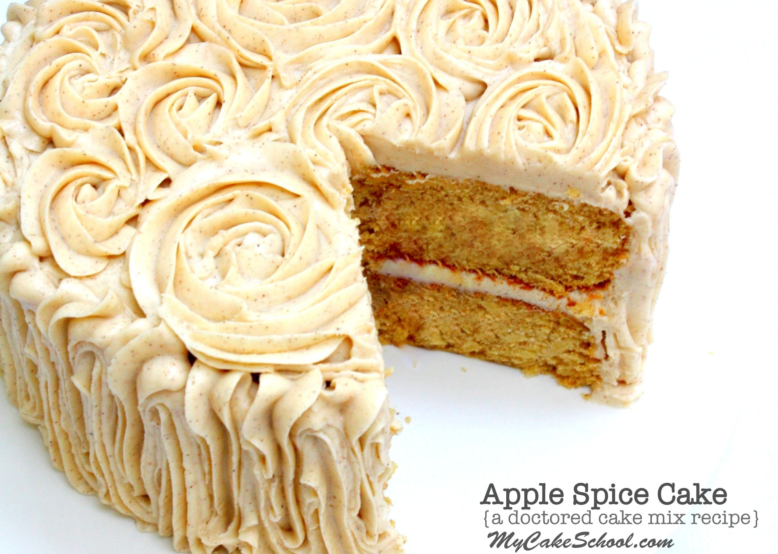Apple Spice Cake A Doctored Cake Mix Recipe Apple Recipes
