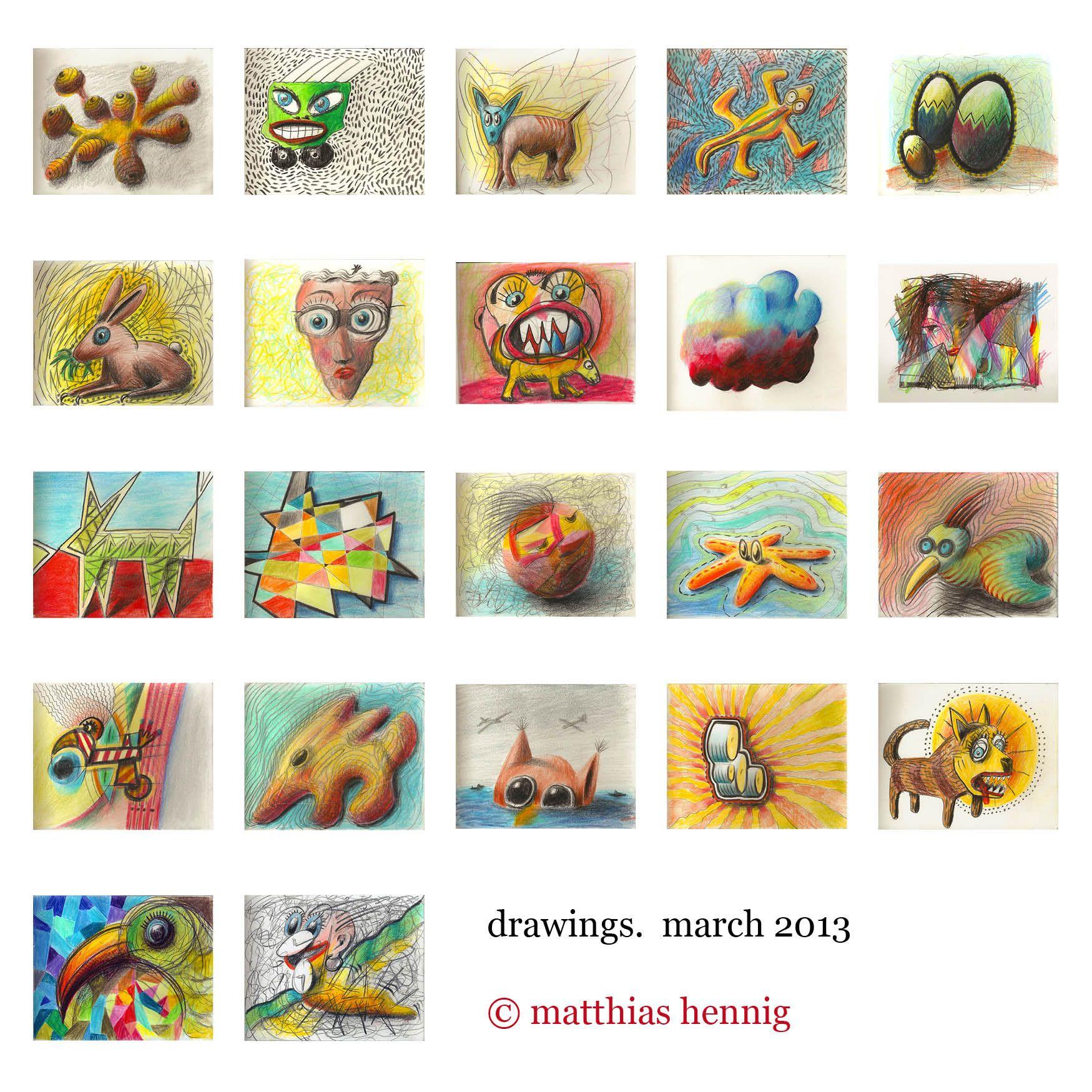 drawings on paper, each 12 x 15 cm, march 2013, #matthias #hennig #artwork #illustration ©matthias hennig 2013