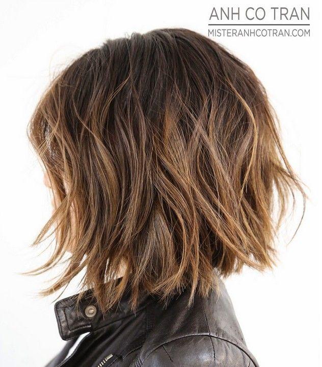 Bildergebnis Fur Frisuren Kinnlang Dickes Gewelltes Haar Haare Und