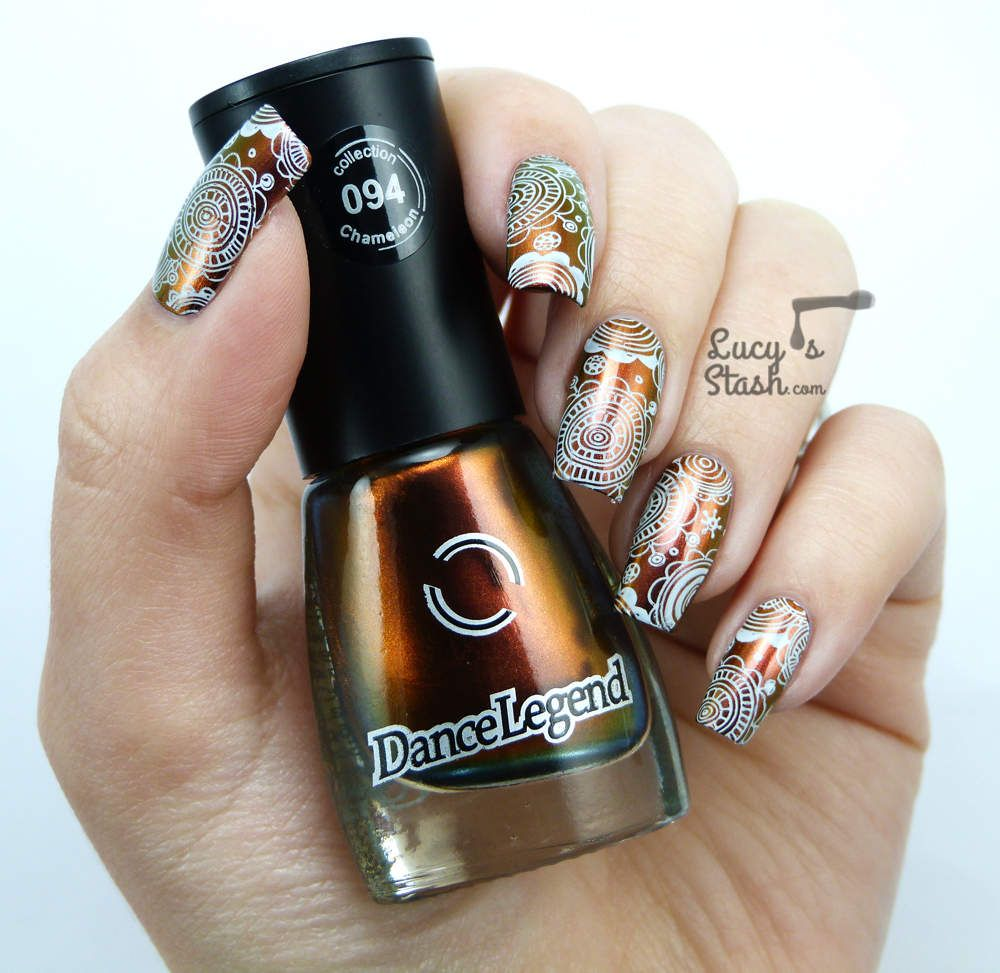 Nail Art London: Multichrome Floral Stamping With Dance Legend & MoYou