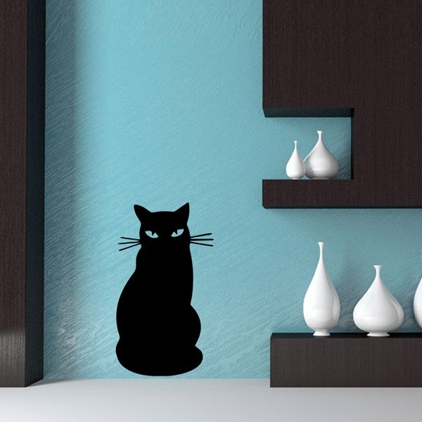 4.42$  Watch now - http://diipq.justgood.pw/go.php?t=202494501 - Black Cat Cartoon Home Decoration Wall Stickers 4.42$