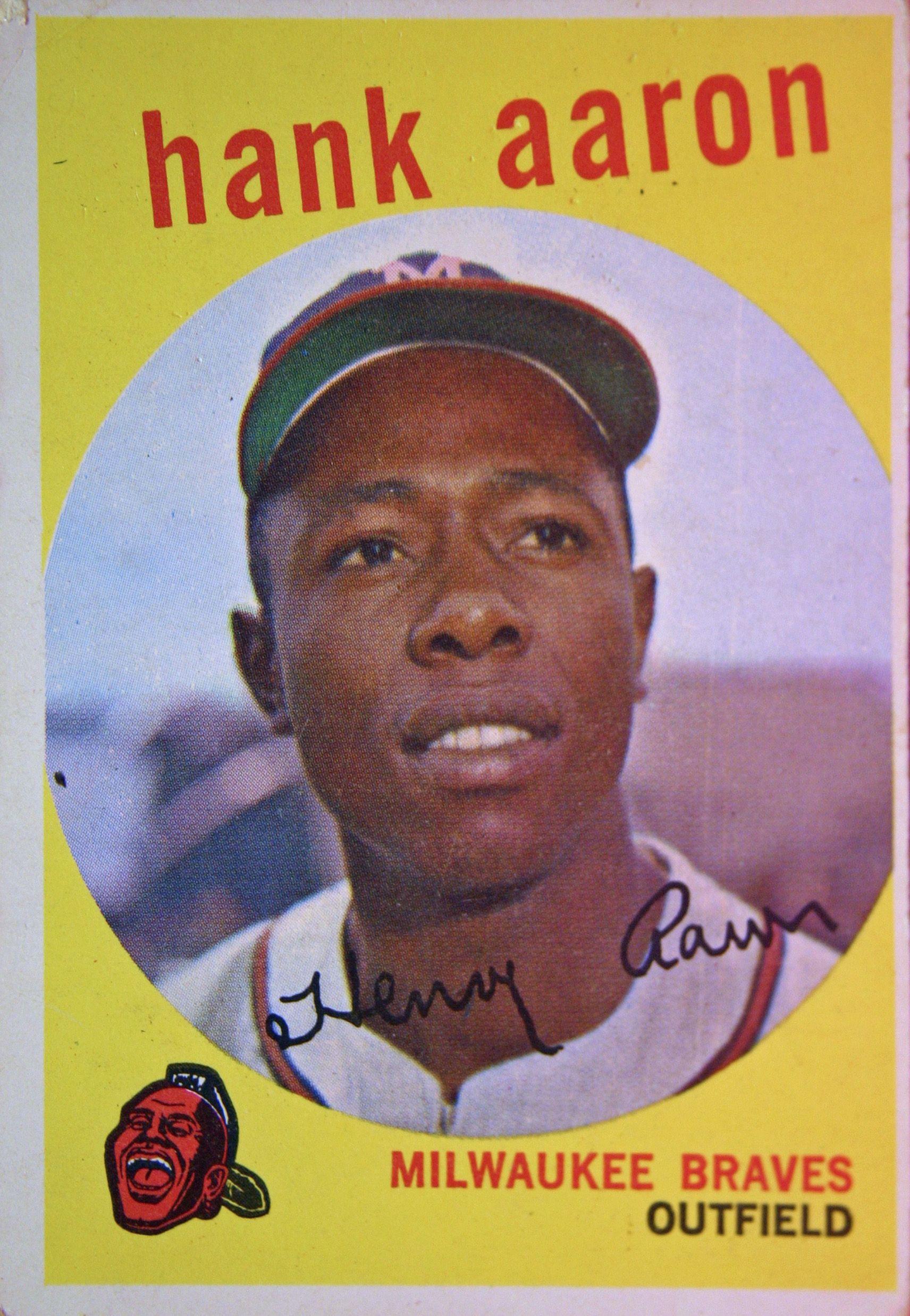 1959 hank aaron baseball cards hank aaron
