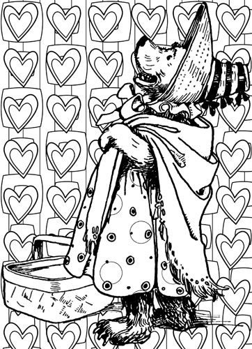 Mama Bear Hearts Coloring Page Download Pattern Art Coloring