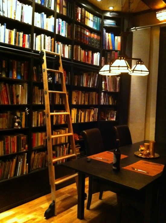 Hacked And Stacked Billy Rolling Ladder Library Ikea Inspiration