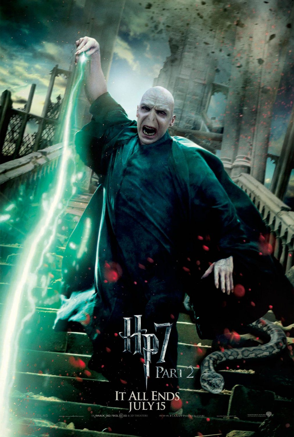 Harry Potter And The Deathly Hallows Part 2 It All Ends July 15 Voldemort With Nagini Poster De Harry Potter Jokes Harry Potter Funny Harry Potter Memes