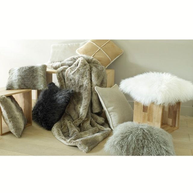 Housse de coussin laine de Mongolie, La Redoute