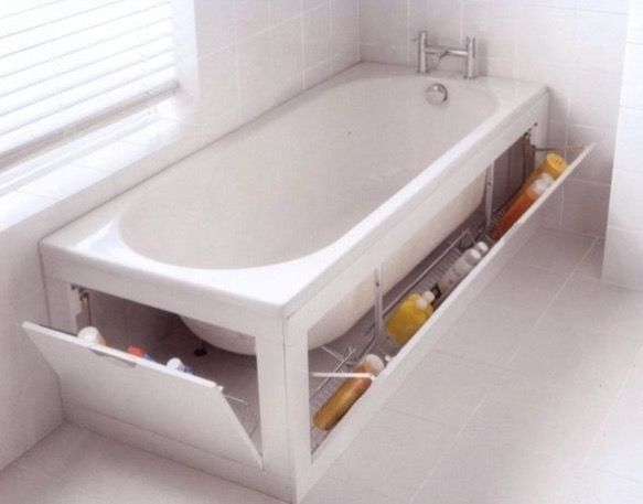 astuce rangement salle de bain astuce petite salle de bain rangement sous la baignoire en