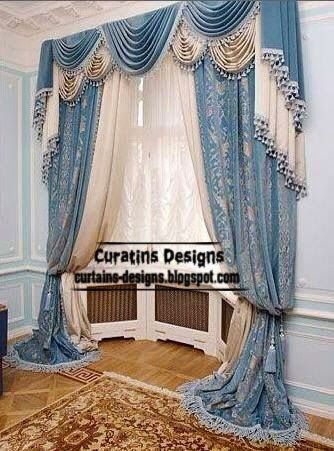 Classic-curtains-and-drapes-for-living-room-in-blue-tones.jpg (334 ...