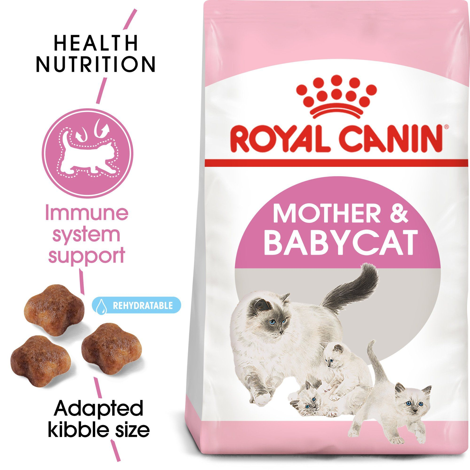 Royal Canin Mother Babycat Dry Cat Food For Newborn Kittens And Pregnant Or Nursing Cats 7 Lbs Dry Cat Food Cat Nutrition Newborn Kittens