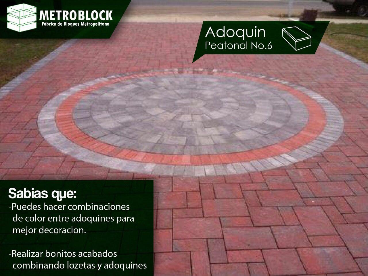 #adoquines y #losetas de colores, la combinación de estos dos productos dan ideas de cómo se podrían mezclar y regalar un diseño moderno a la edificación.