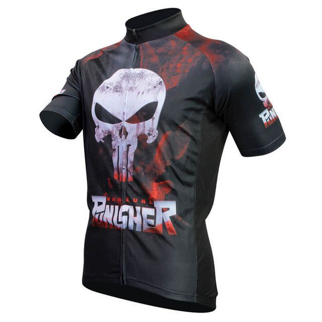 Hot Slae Punisher Breathable Cycling Jersey Summer Mtb Short Anti-sweat  Bicycle Clothing Quick Dry Polyester Size XS-4XL 5ff7d0dc6