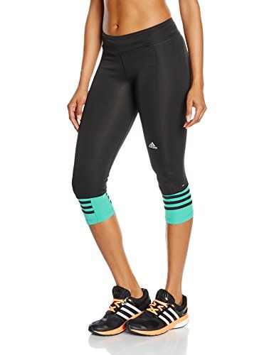 online store f9a61 9b785 Adidas Women s RS 3 4 Tights - Black Green Black VERIMP, Large Price Β£29.48
