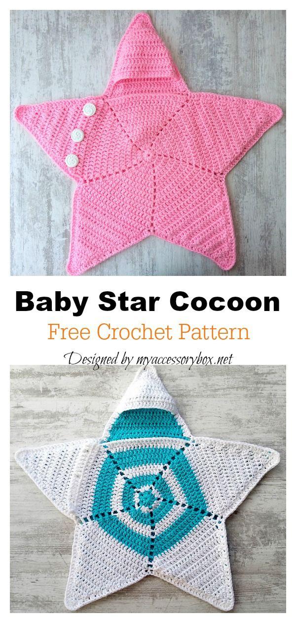 Crochet Twinkle Twinkle Star bunting with Free Pattern #crochetbabycocoon