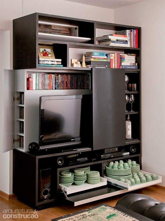 8 ideas de muebles funcionales para espacios peque os tv for Muebles de sala modernos para espacios pequenos