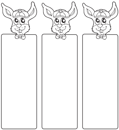 Fun Bunny Bookmark Template  Kids Crafts  Activities