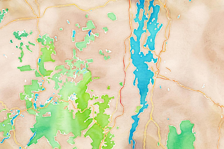 watercolor 1,500 x 1,000px 44.4681, -73.6116