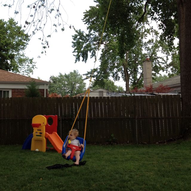 World S Most Awesome Tree Swing Buy A Fisher Price Toddler Swing With A Seat And Harness And Attach It To A Strong Branch H Toddler Swing Tree Swing Swing Set