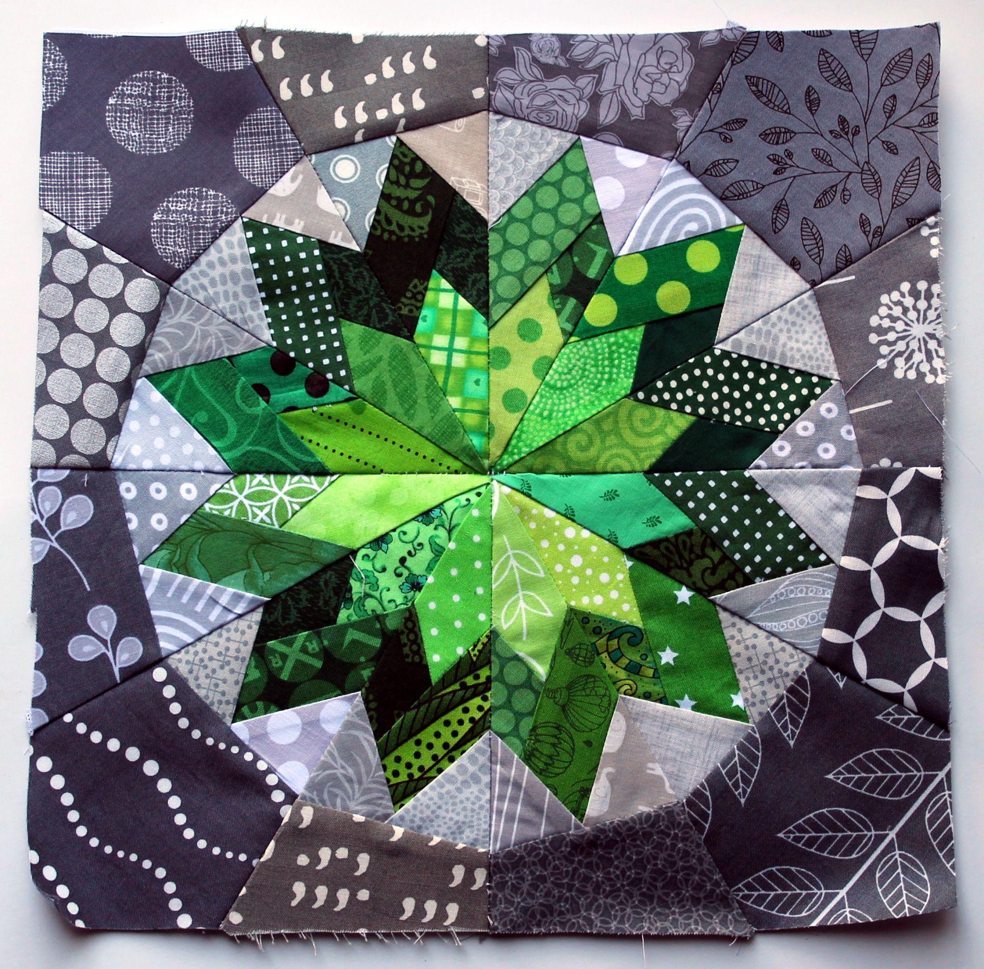 modern scrap paper pieced star quilty Pinterest