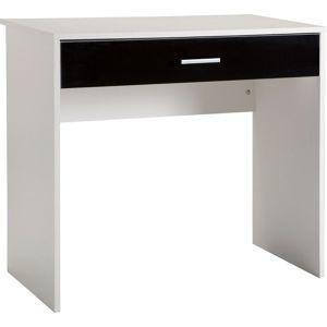 Caspian Laptop Desk - White and Black Gloss.