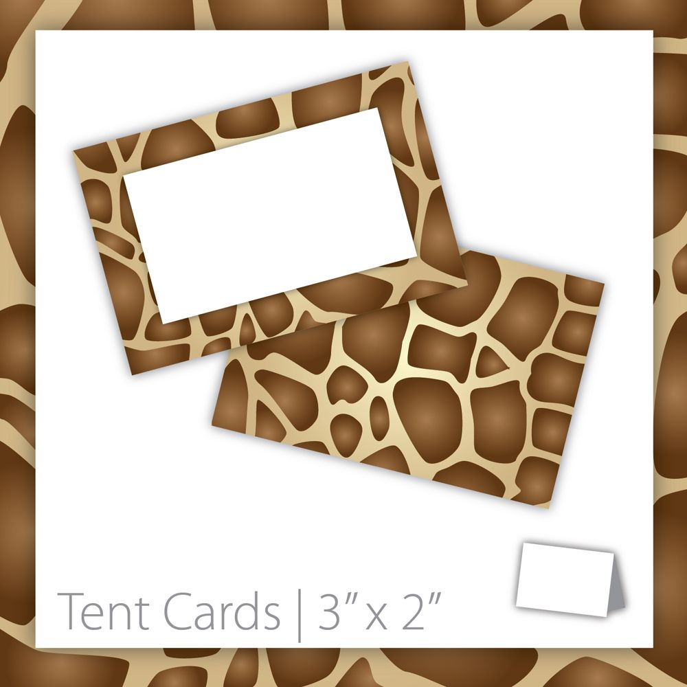 Animal Print Tent Cards  Blank . PRINTABLE . Giraffe . INSTANT Download ~ $5.00 ~  sc 1 st  Pinterest & Animal Print Tent Cards : Blank . PRINTABLE . Giraffe . INSTANT ...