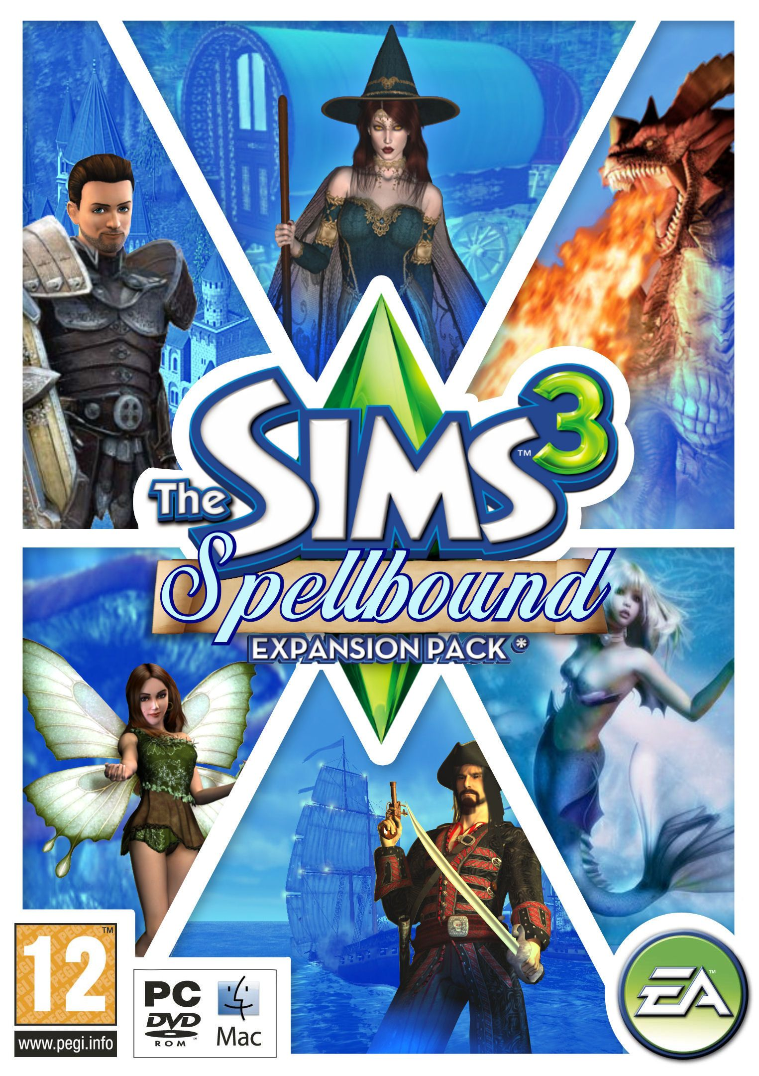 The sims 3 spellbound not sure if its real but that for Awesome sims